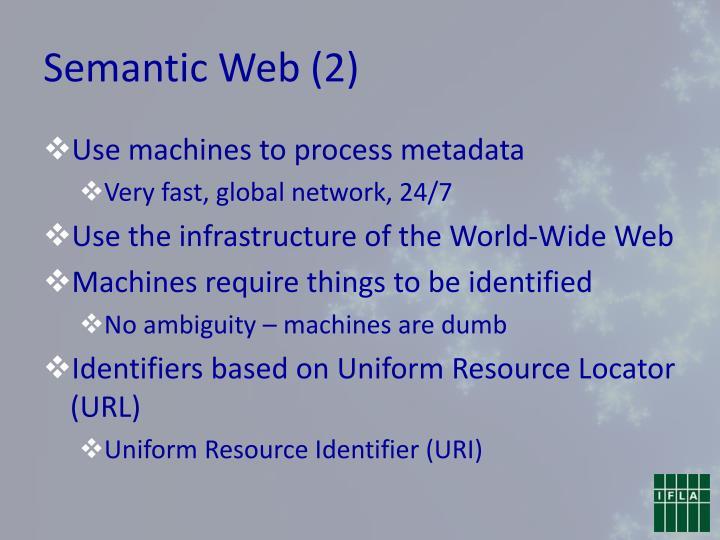 Semantic Web (2)