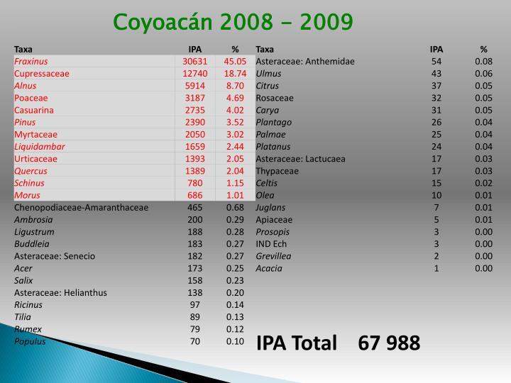 Coyoacán 2008 - 2009