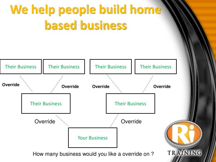 We help people build home based business
