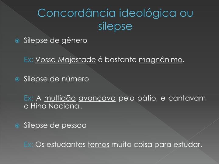 Concordância ideológica ou
