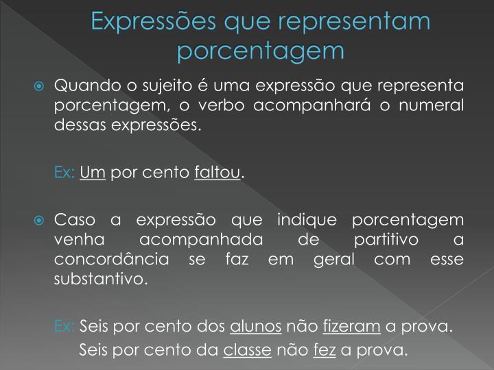 Expressões que representam porcentagem