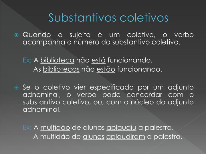 Substantivos coletivos