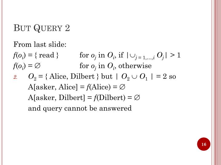 But Query 2