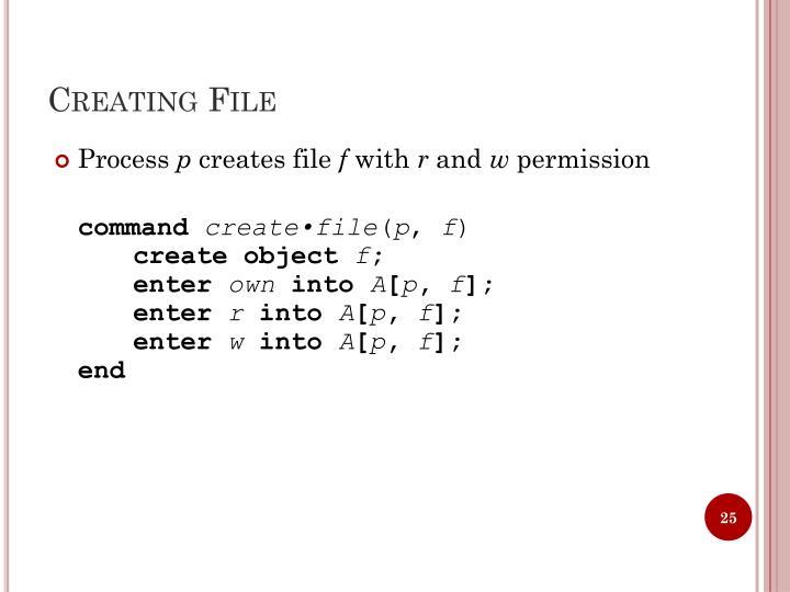 Creating File
