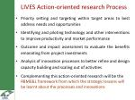 lives action oriented research process