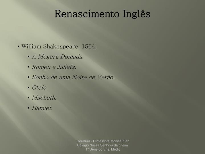 Renascimento Inglês