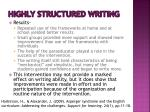 highly structured writing2