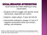 social behavior intervention1