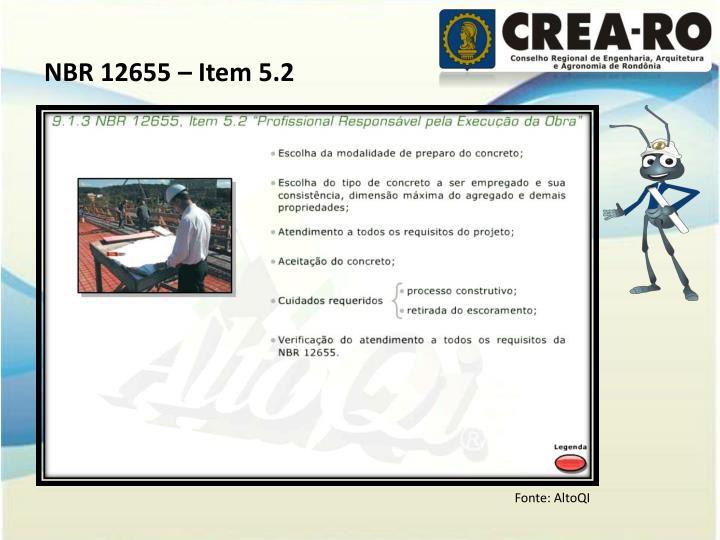 NBR 12655 – Item 5.2