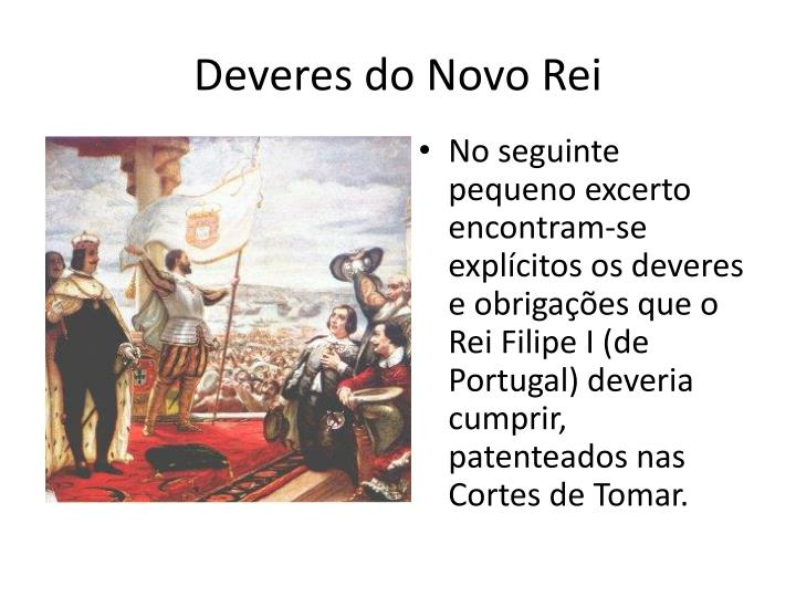 Deveres do Novo Rei