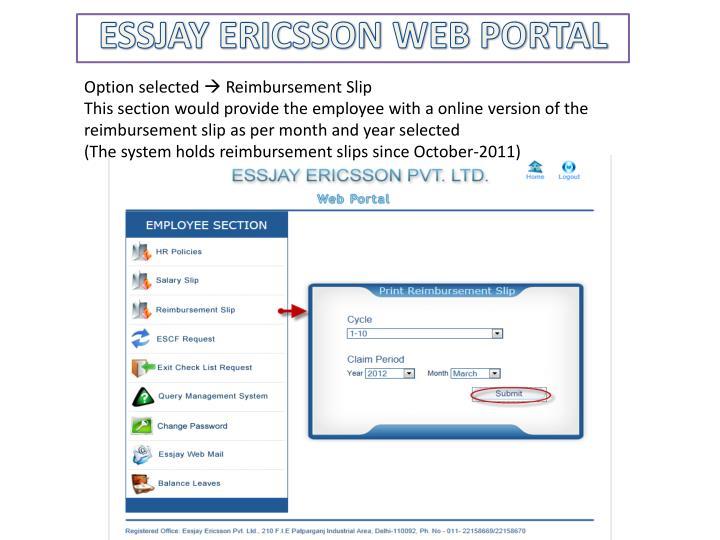 PPT - ESSJAY ERICSSON WEB PORTAL PowerPoint Presentation - ID:2353830