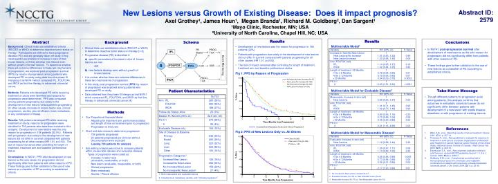 New Lesions versus Growth of Existing Disease:  Does it impact prognosis?