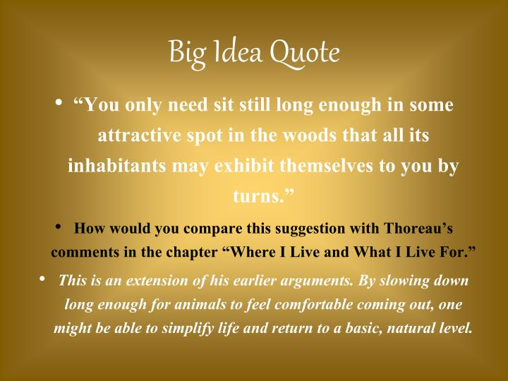 Big Idea Quote