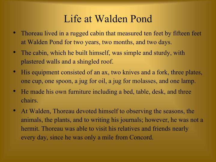 Life at Walden Pond
