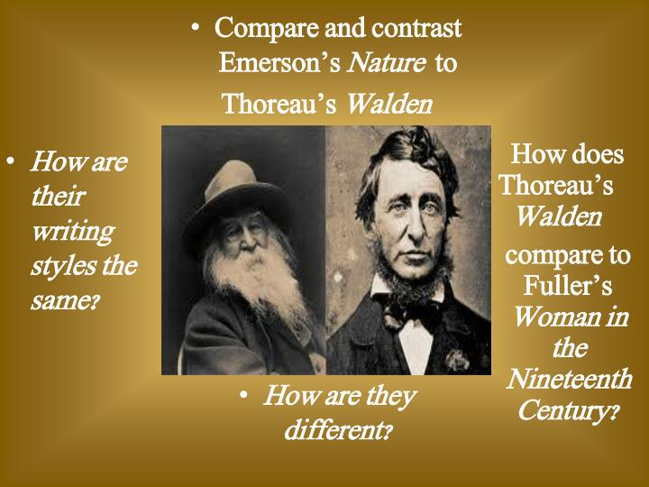 Compare and contrast Emerson's