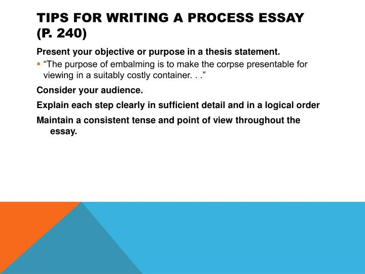 Tips for Writing a Process Essay