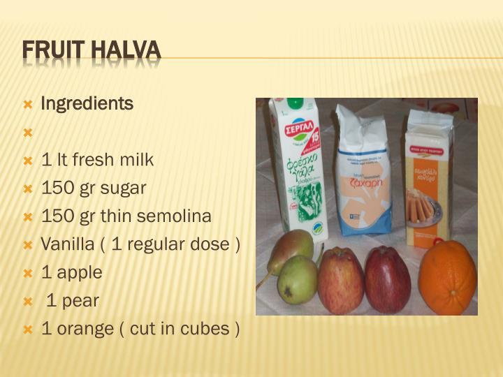 Fruit Halva