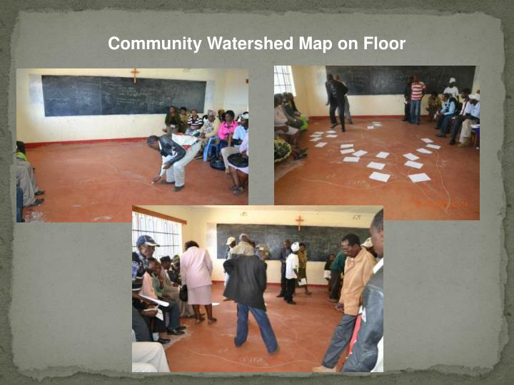 Community Watershed Map on Floor