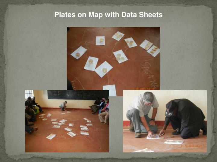 Plates on Map with Data Sheets