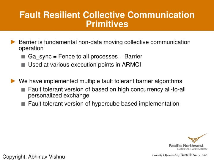Fault Resilient Collective Communication Primitives