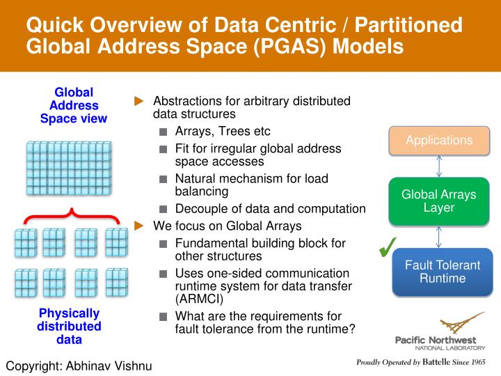 Quick Overview of Data Centric / Partitioned Global Address Space (PGAS) Models