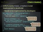 class create