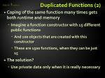 duplicated functions 2