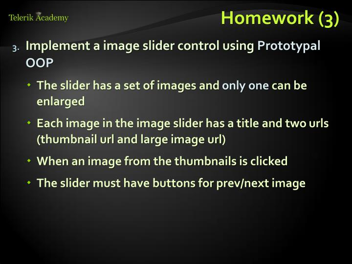 Homework (3)