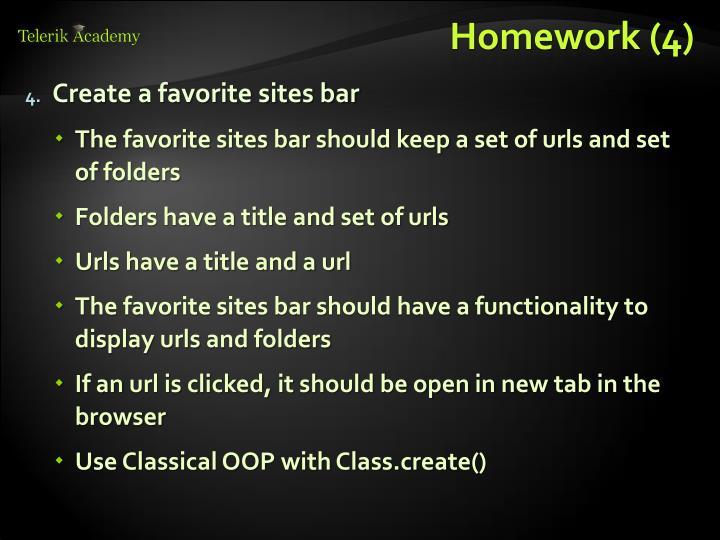 Homework (4)