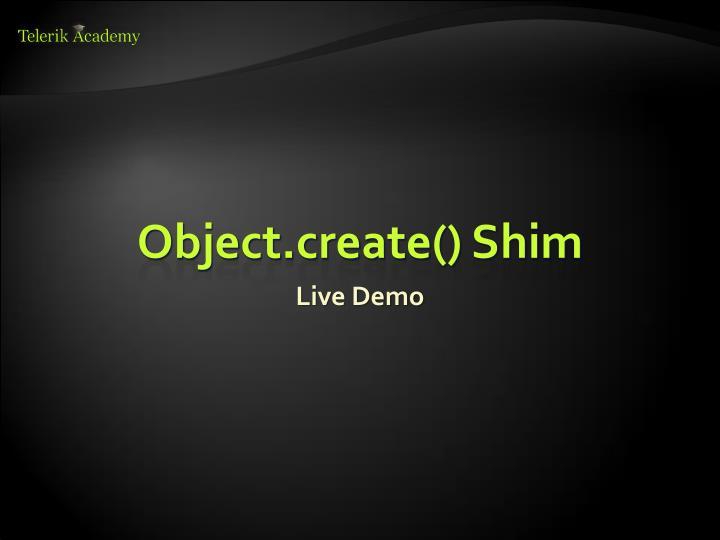 Object.create