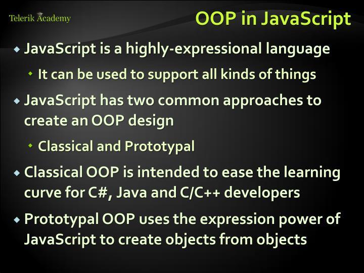 OOP in JavaScript