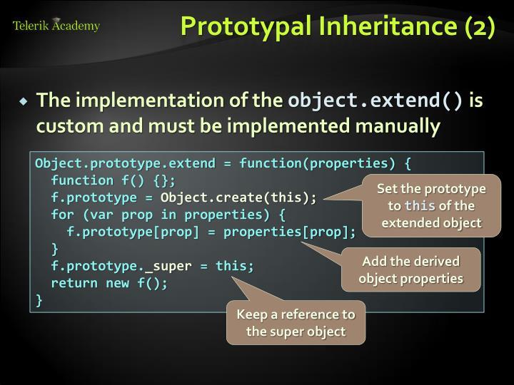 Prototypal Inheritance (2)