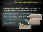 prototypal inheritance 2