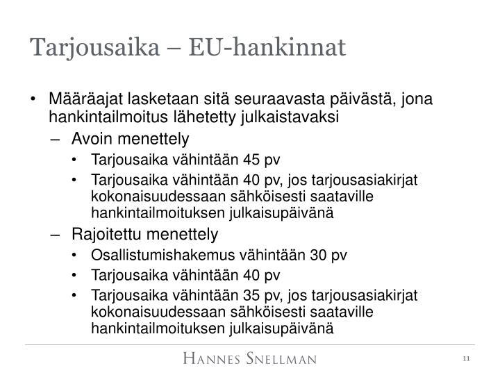 Tarjousaika – EU-hankinnat