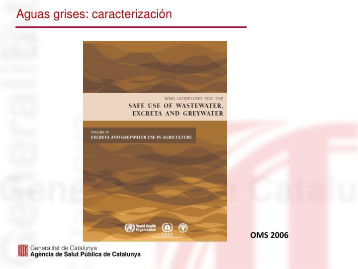 Aguas grises: caracterización