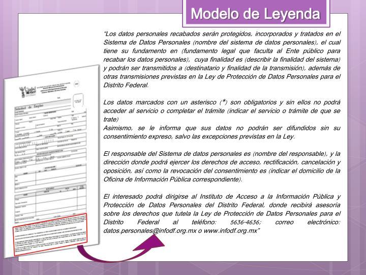 Modelo de Leyenda