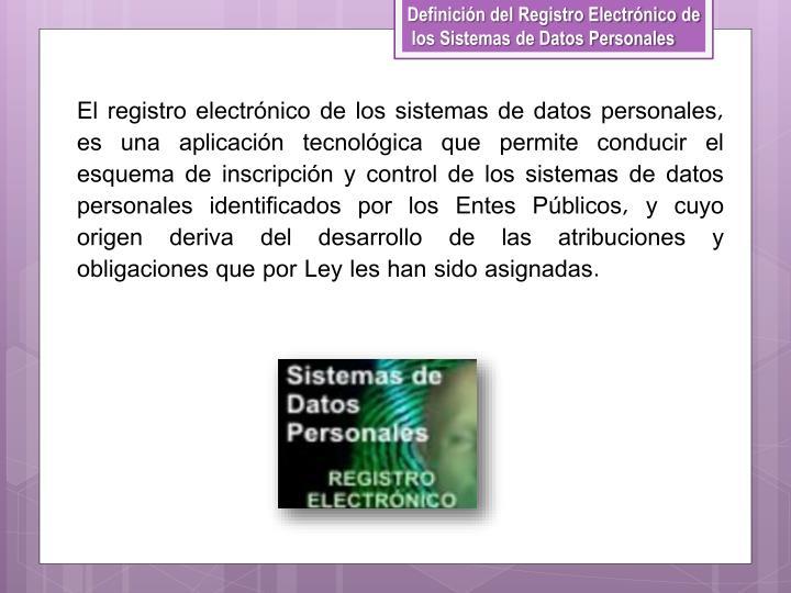 Definición del Registro Electrónico de