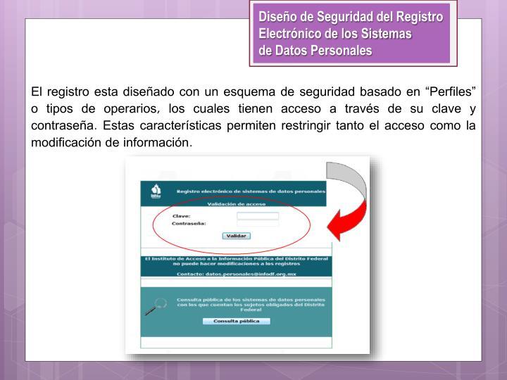 Diseño de Seguridad del Registro