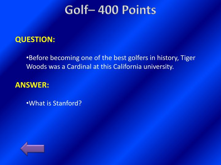 Golf– 400
