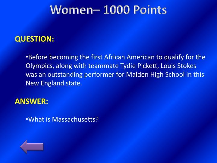 Women– 1000