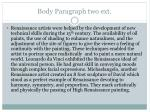 body paragraph two ext