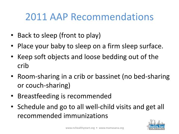 2011 AAP Recommendations