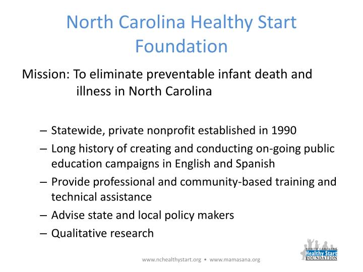 North carolina healthy start foundation
