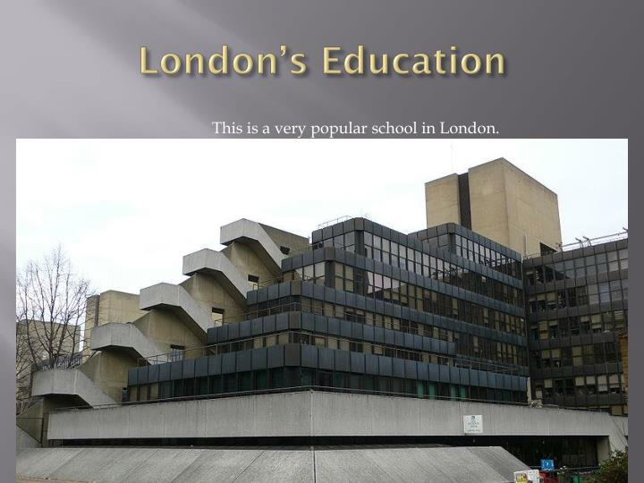 London's Education