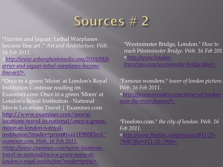 Sources # 2