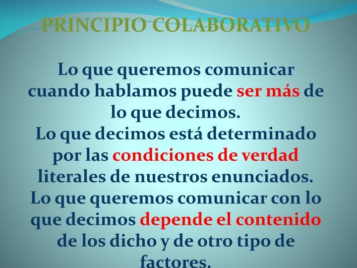 PRINCIPIO COLABORATIVO