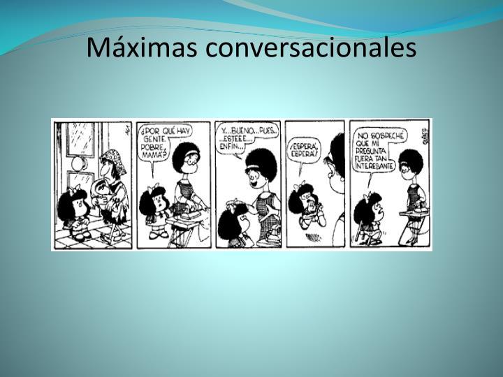 Máximas conversacionales