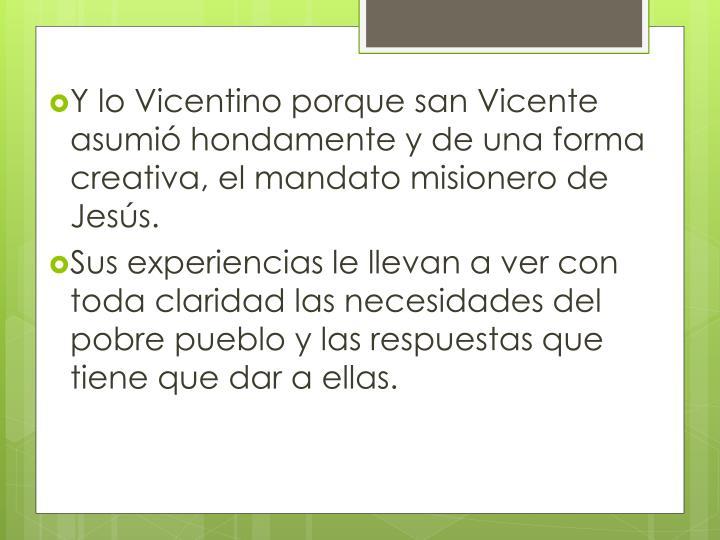 Y lo Vicentino