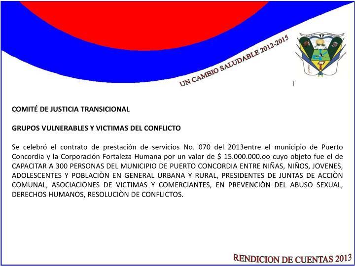 COMITÉ DE JUSTICIA TRANSICIONAL