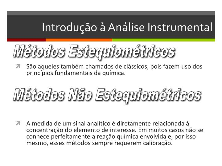 Introdução à Análise Instrumental